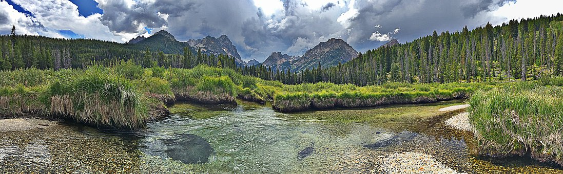 Sawtooth Mountains, Wilderness, Backcountry, Alpine