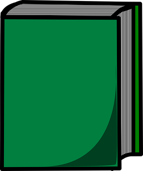Book, Hard Cover, Closed, Green, Blank