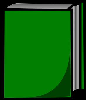 Book, Closed, Green, Hard, Cover, School