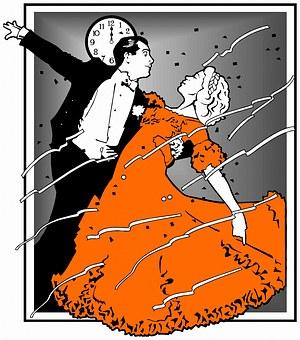 Dancing, Dance, Red, Dress, Couple, Vintage