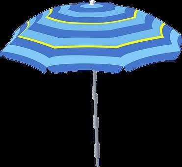 Large, Umbrella, Beach, Sun, Summer, Sheltering