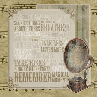 Vintage, Background, Texture, Music, Message, Sentiment