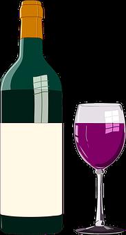 Wine, Bottle, Glass, Red Wine, Vino, Beverage, Alcohol