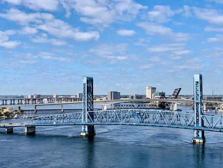 Florida, Jacksonville, Water, Cityscape
