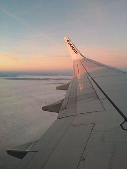 Plane, Airplane, Wing, Flying, Aircraft, Clouds