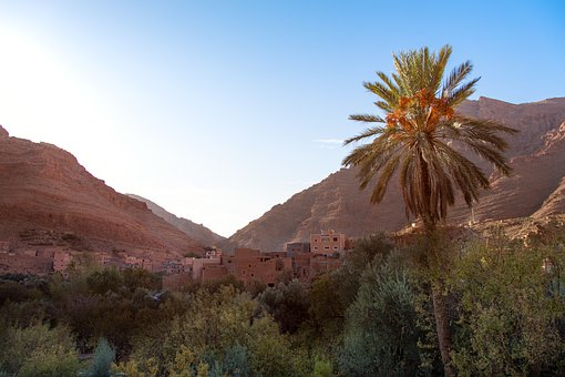 Morocco, Africa, Tinghir, Todra, Canyon, Landscape