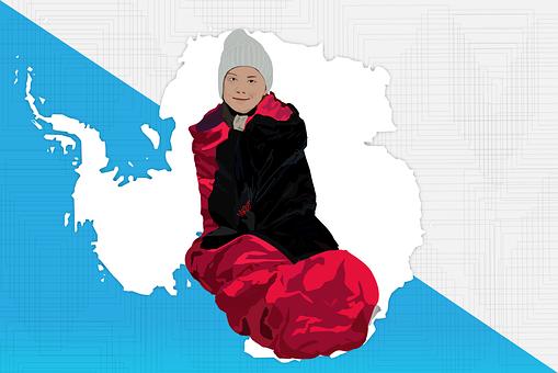 Climate Change, Gretathunberg, Antartica