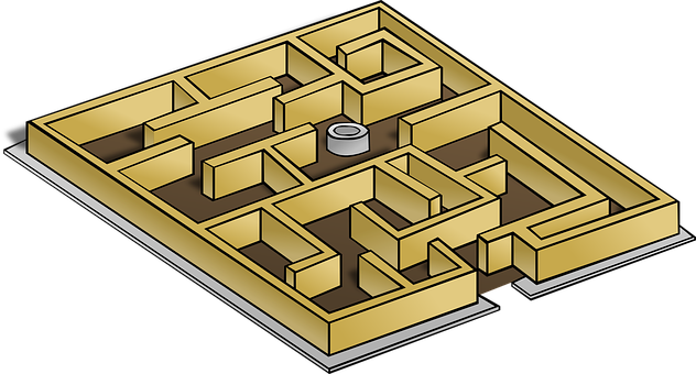 Maze, Game, Lost, Map, Confused, Play, Labyrinth