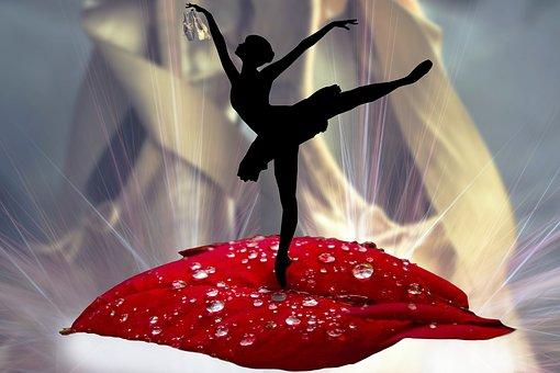 Ballerina, Leaf, Dancing, Ballet Shoes, Fantast