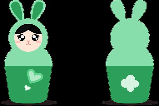 Matryoshka, Dolls, Easter, Bunny, Russia, Rabbit