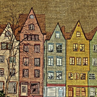 Houses, Architecture, Fabric, Tissue