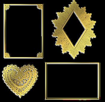 Gold Foil Labels, Borders, Frames, Flourishes