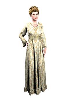 Vintage, Woman, Gown, Old, Romantic, Vintage Fashion