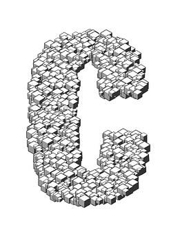 Letter, Box, Cube, 3d, Stack, Heap, Letterpress