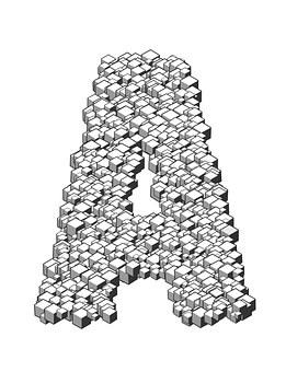 Letter, Box, 3d, Cubes, Stack, Heap, Letterpress
