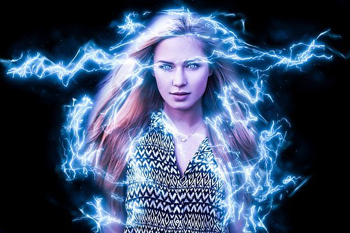 Thunder, Woman, Girl, Hair, Superpower, Energy