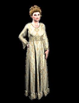 Vintage, Woman, Gown, Old, Romantic