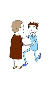 Elderly Person, Senior, Caregiver, Male Nurse, Care