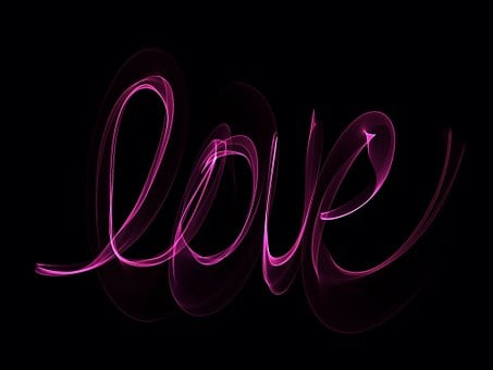 Neon, Love, Glowing, Writing, Romance, Romantic, Pink