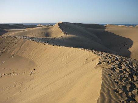 Spain, Gran Canaria, Dunes, Vacations