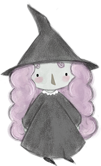 Witch, Watercolor, Halloween, Hand Drawn, Witch Kid