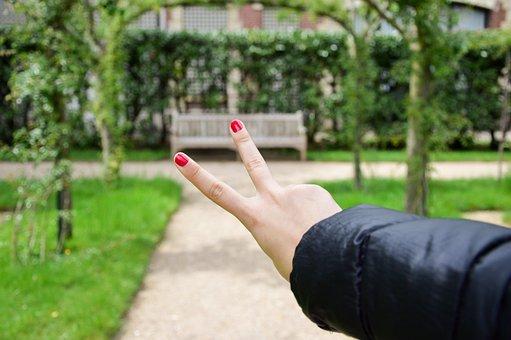 Joy, Peace, Holiday, Hand, Fingers, Varnish, Spring