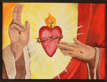 Inspiration, Jesus, Sacred Heart, Religion, God, Sacred