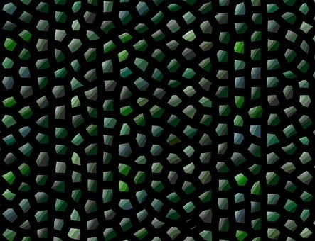 Abstract, Green, Design, Scales, Dragon Scales