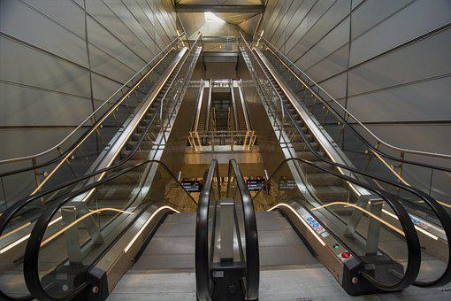 Metro, Stairs, Architecture, Escalator, Copenhagen