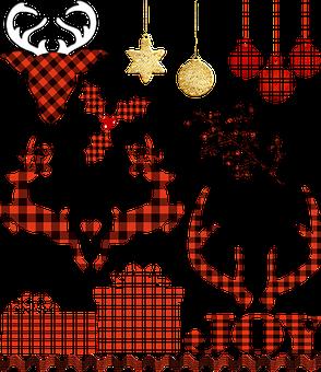 Buffalo Plaid, Lumberjack Christmas, Deer, Christmas