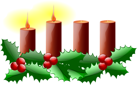 Fourth Advent, Christmas, Advent, Candle, Green, Red