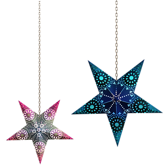Star, Decorations, Stars, Holiday, Shine, Chains