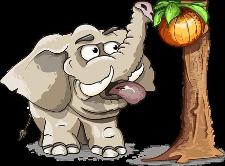 Elephant, Fruit, Tree, Trunk, Tusks, The Language