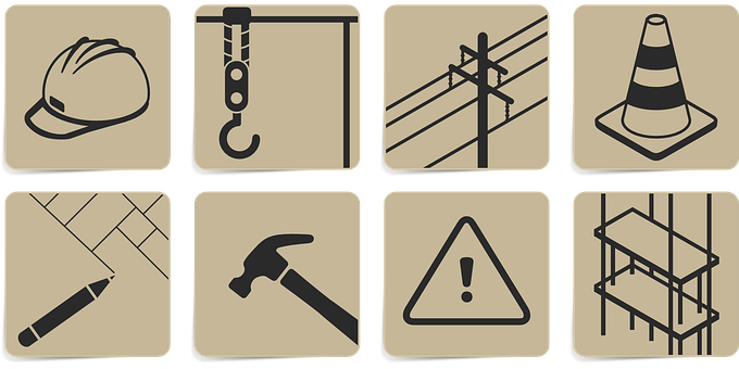 Iconset, Icons, Building Lot, Helmet, Hammer, Crafts