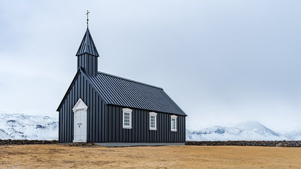 Church, Iceland, Black Church, Chapel, Religion