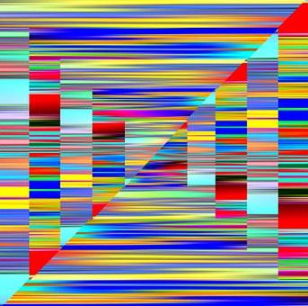 Chaos, Creative, Abstract, Streaks, Rainbow, Spectrum