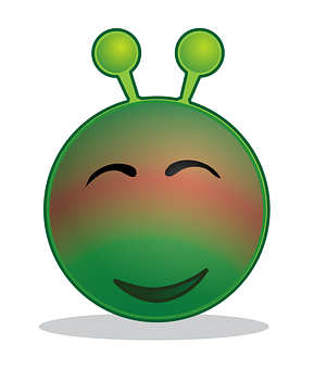 Alien, Smiley, Blushing, Embarassed, Emoji, Emotions