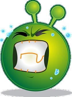 Alien, Smiley, Emoji, Emoticon, Expression, Emotion