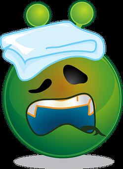 Alien, Smiley, Sick, Emoji, Emoticon, Expression