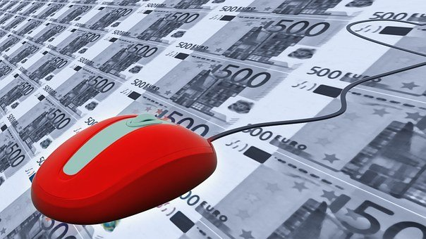 Mouse, Red, Euro, Money, Currency