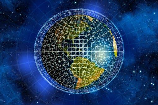 Network, Earth, Block Chain, Globe, America