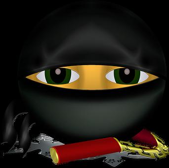 Graphic, Ninja, Smiley, Emoticon, Emoji, Kung Fu