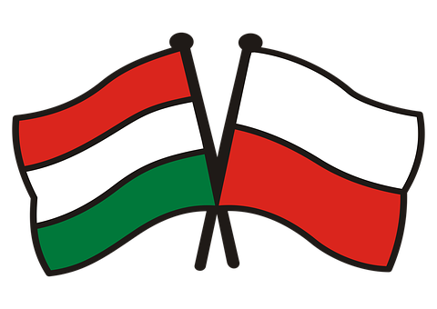 Poland Hungary, Flags, National Colors, Dwa Bratanki
