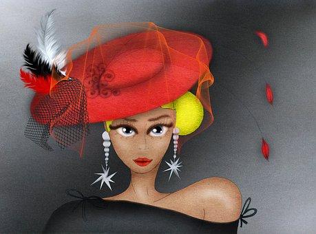 Fashion-monger, Fashion, Hat, Veil, Figure, Portrait