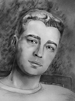 Portrait, Portrait Of A Man, Man, View, Men's, Person