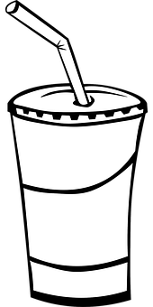 Cup, Lid, Straw, Disposable, Soft Drink, Drink, Fizzy