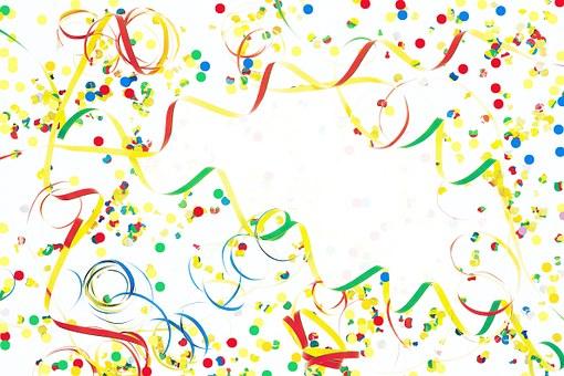 Streamer, Confetti, Decoration, Colorful