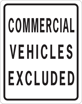 Information, Warning, Vehicles, Commercial, Excluded