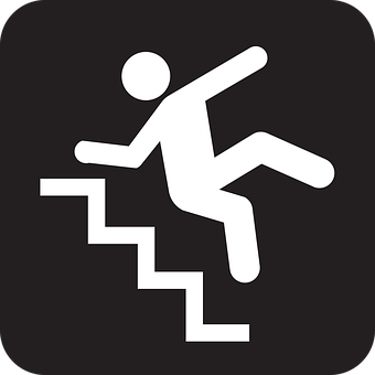 Falling, Tripping, Down, Stairs, Staircase, Stairway
