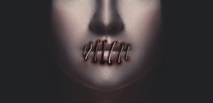 Woman, Mouth, Lips, Silence, Excluded, Face, Nose, Head
